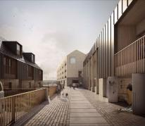 An early artist's impression of how a redeveloped North Quay could look